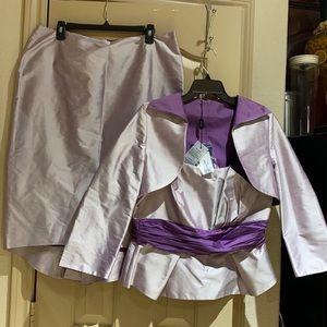 PRESEN three piece silk  dress